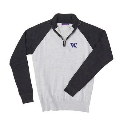 Washington Huskies Merino Raglan 1/4 Zip