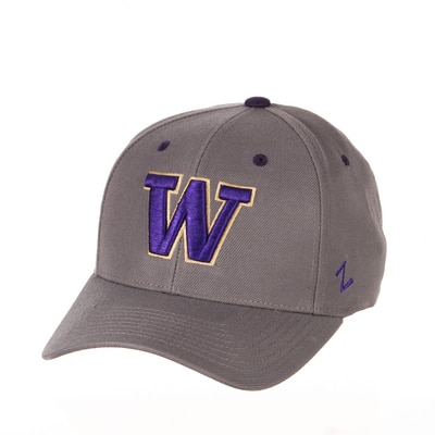Washington Huskies Zephyr Competitor Structured Curved Bill Adjustable Cap Hat