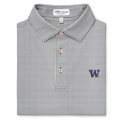 Washington Huskies Greek Gingham Printed Stretch Jersey