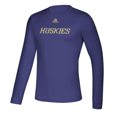 Washington Huskies Adidas Men's Creator LS T Shirt