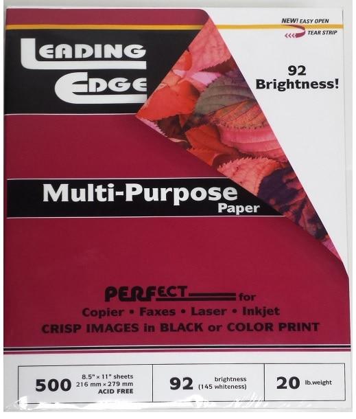 Leading Edge MultiPurpose Office Paper 8.5x11 500 Sheets