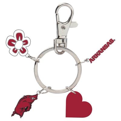 University of Arkansas Charm Key Chain