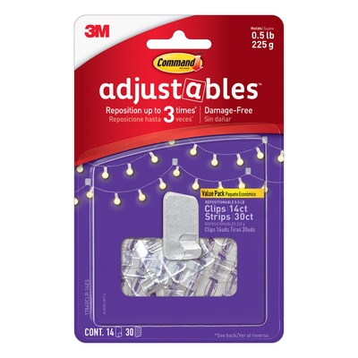 Command Adjustable Clips 14ct