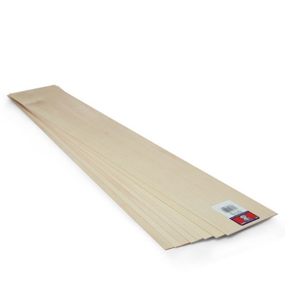 """Midwest Basswood Sheet, 24"""" x 4"""" x 1/16"""""""