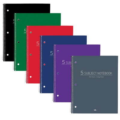 5 SUBJECT VALUE NOTEBOOK