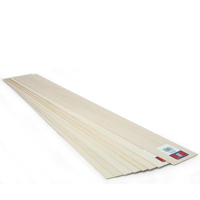 """Midwest Basswood Sheet, 24"""" x 3"""" x 1/16"""""""