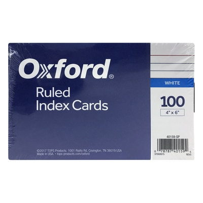 4 X 6 RULED INDEX CARDS