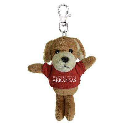 University of Arkansas 4in Plush Dog Keychain
