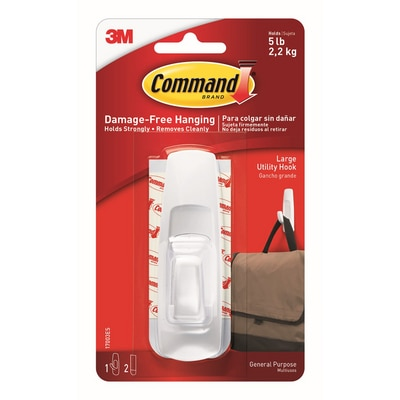 3M Command Large Utility Hook 1/Pack