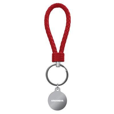 University of Arkansas Leather Braided Loop Keychain