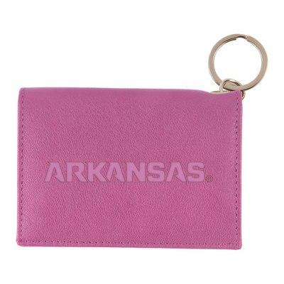 University of Arkansas Nappa Snap Leather ID Holder