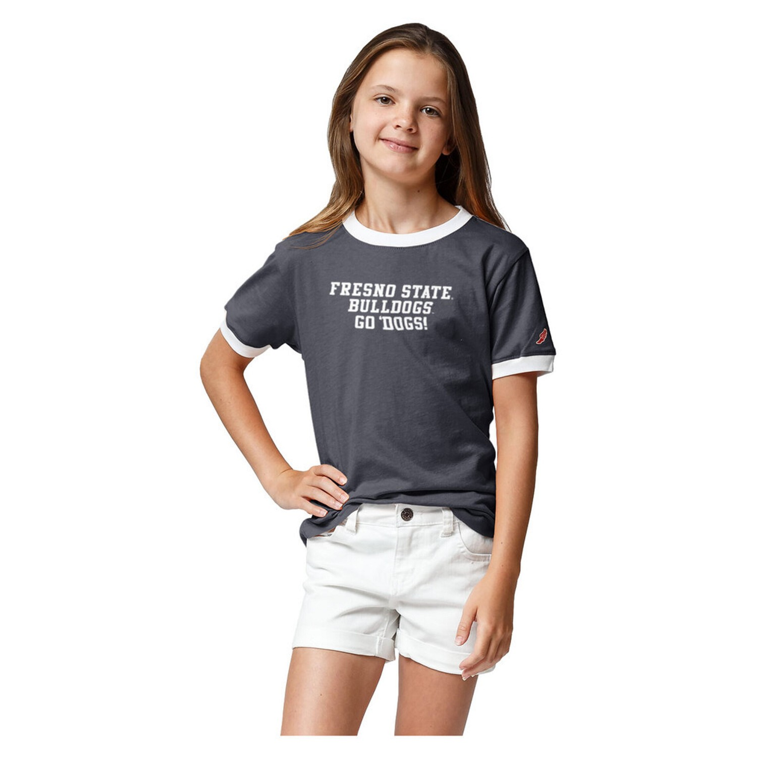 Fresno State League Girl's Camp Ringer T-Shirt
