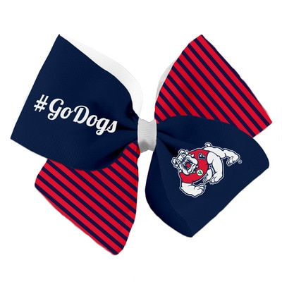 Fresno State Spirit Cheer Gear Bow Barrette