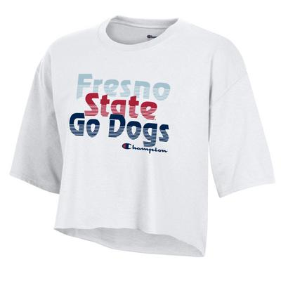 Fresno State Boyfriend Crop Short Sleeve T-Shirt