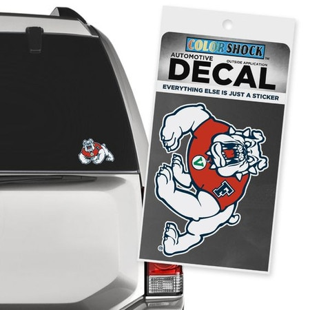 Fresno State Color Shock Auto Decal