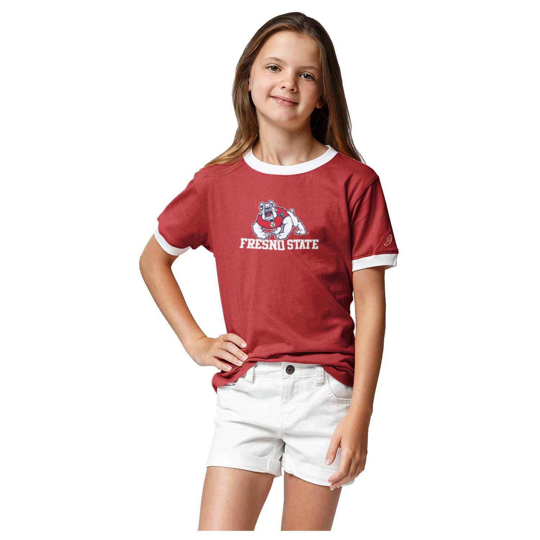 Fresno State League Girl's Camp Ringer T-Shirt