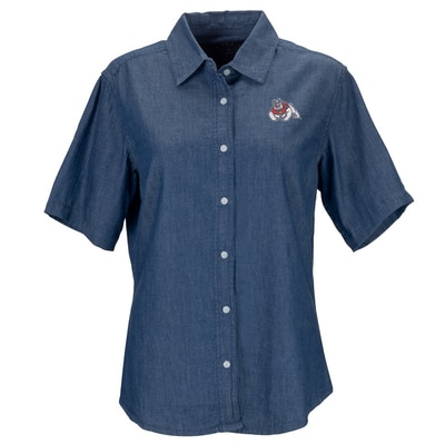 Fresno State Short Sleeve Hudson Denim Shirt