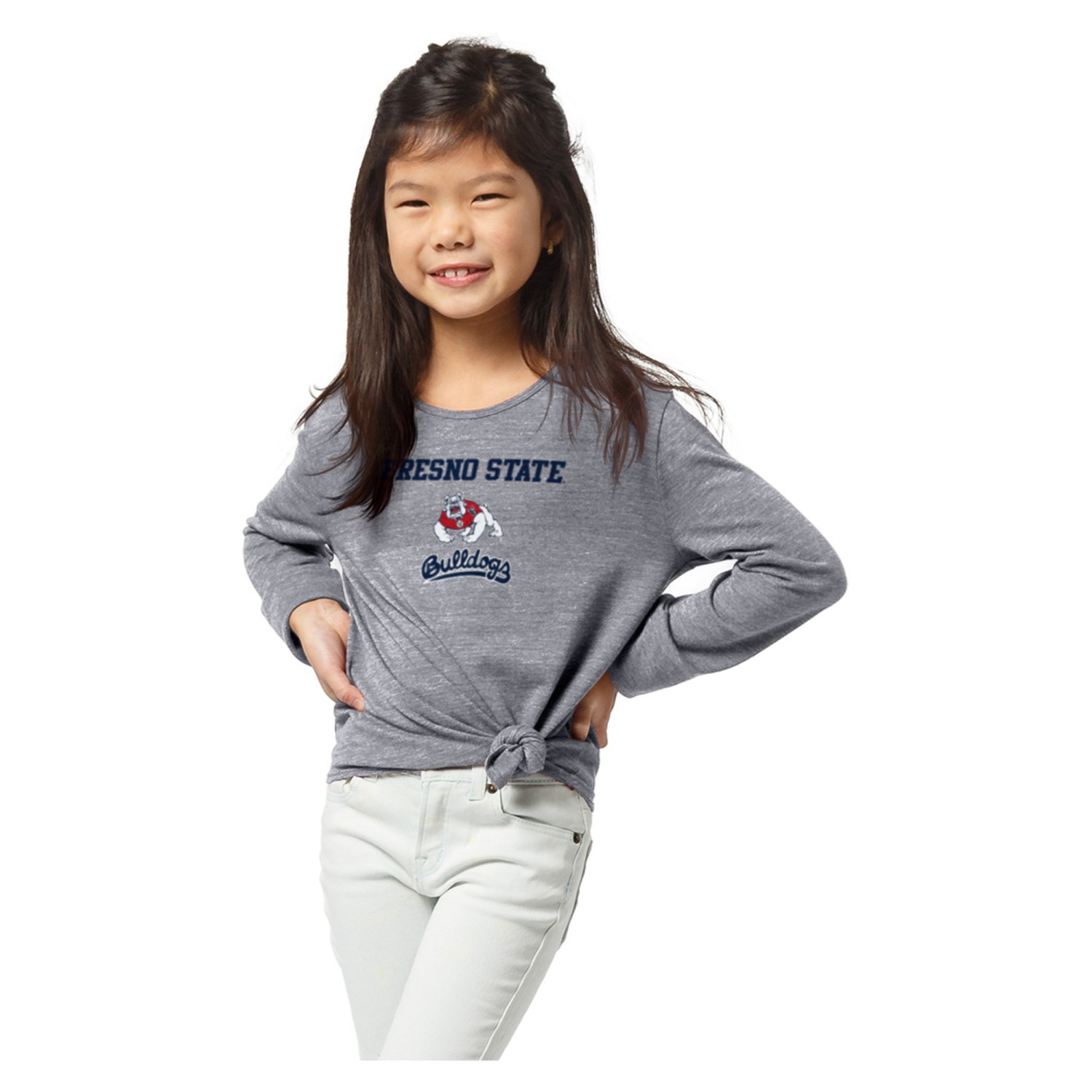 Fresno State League Girl's Triblend Side Tie T-Shirt
