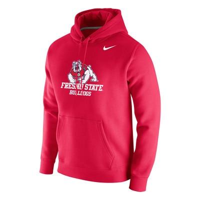 Nike Fresno State Club Fleece Hoodie Pullover Sweatshirt