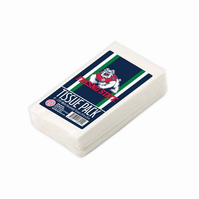 Fresno State 10 pack White 3 Ply Unscented Tissues