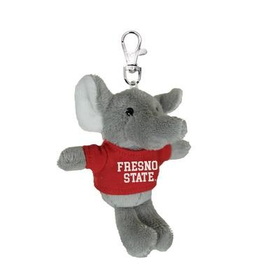 Fresno State 4in Plush Elephant Keychain