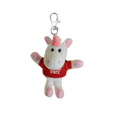 Fresno State 4in Plush Unicorn Keychain