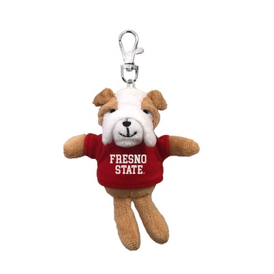 Fresno State 4in Plush Bulldog Keychain
