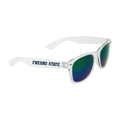 Fresno State Mirror Lens Shades:Yellow Green