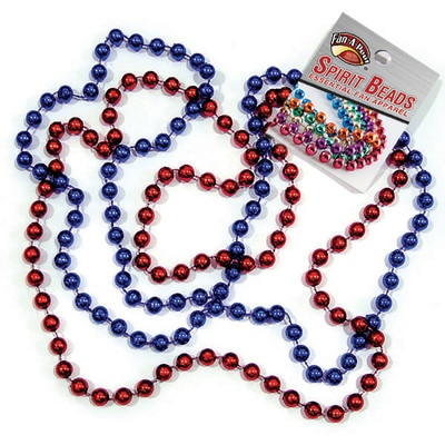 Fresno State Two Color Spirit Beads