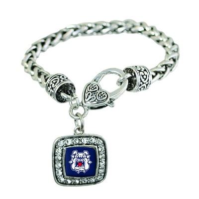 Fresno State Silver Square  Bracelet