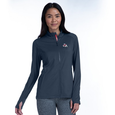 Fresno State Women's Slant Text Alyssa Full Zip Jacket