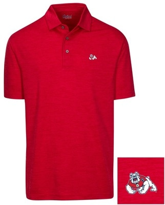 Fresno State Oxford America Snyder Heathered Jersey Polo