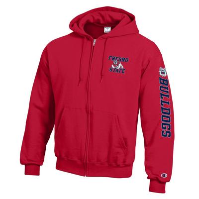 Champion Fresno State Powerblend Fleece Full Zip Pull Over Sweatshirt
