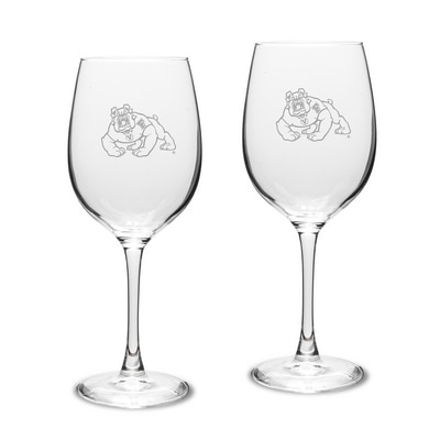 Fresno State White Wine Glass 2pk