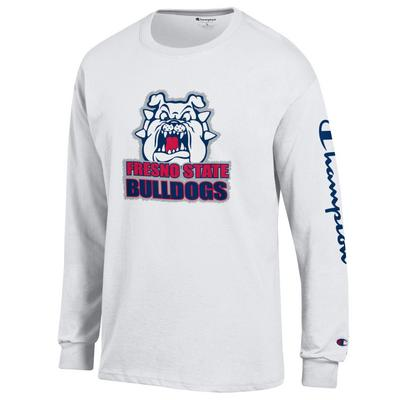 Champion Fresno State Jersey Crewneck Long Sleeve T-shirt