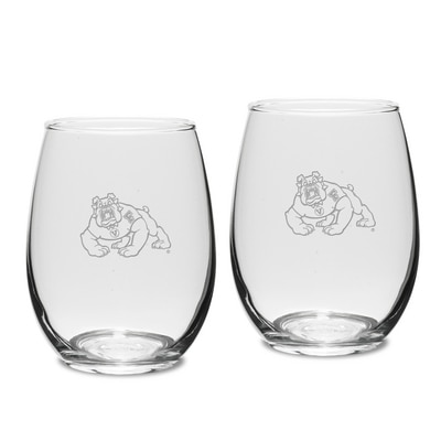 Fresno State Stemless Wine Glass 2pk
