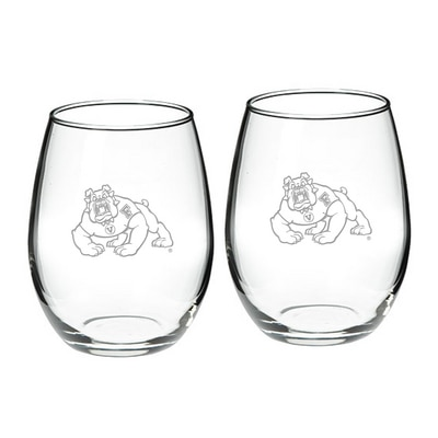 Fresno State Stemless Wine Glass 2-Pack