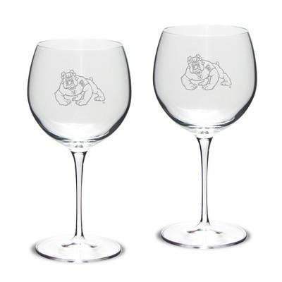 Fresno State Red Wine Glass 2pk