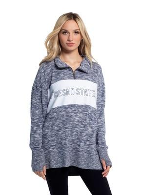 Fresno State Cozy Long Sleeve Quarter Zip