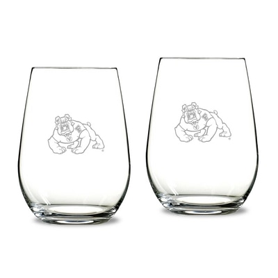 Fresno State Riedel Stemless Wine Glass 2pk