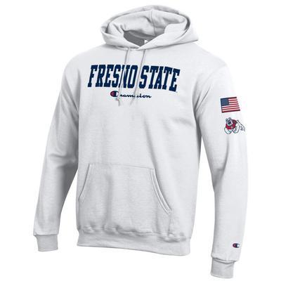 Champion Fresno State Powerblend Fleece Hoodie Pullover Sweatshirt
