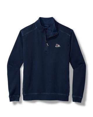 Tommy Bahama Fresno State Sport Nassau Quarter Zip Pull Over Sweatshirt