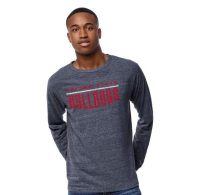 League Fresno State Victory Falls Triblend Crewneck Long Sleeve T-shirt
