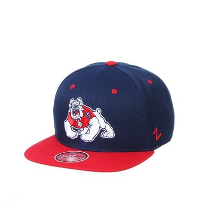 Zephyr The Bulldog Shop Structured Flatbrim Cap Hat