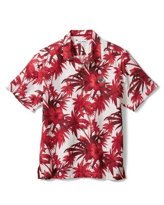 Tommy Bahama Fresno State Harbor Island Hibiscs Camp Woven