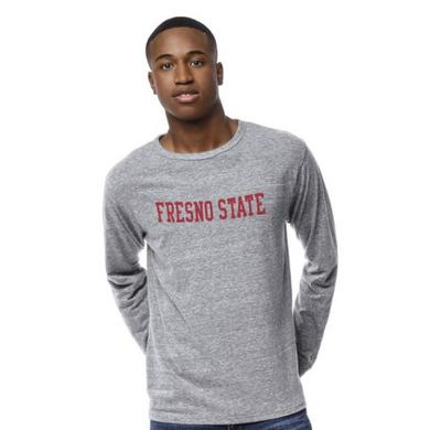 League The Bulldog Shop Victory Falls Triblend Crewneck Long Sleeve T-shirt